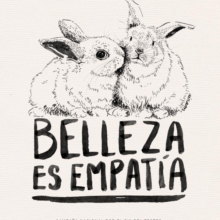 Poster realizado para difundir la campaña por el fin del testeo en animales para productos cosméticos
