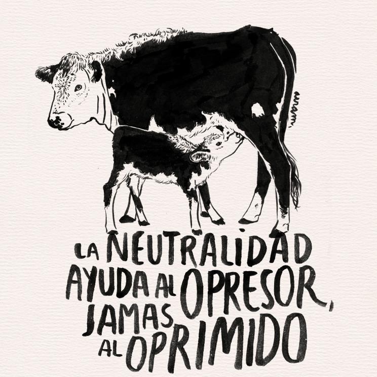 Poster realizado para difundir el veganismo